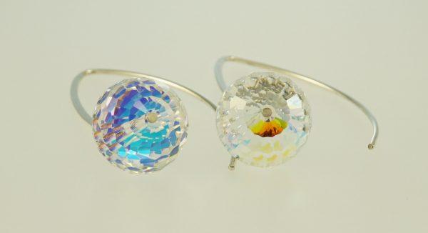 Swarovski crystal dangle hook earrings