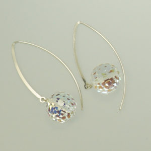 Swarovski crystal dangle hook earrings