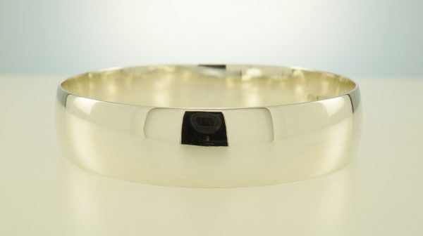 Bangle Sterling Silver handmade wide half round