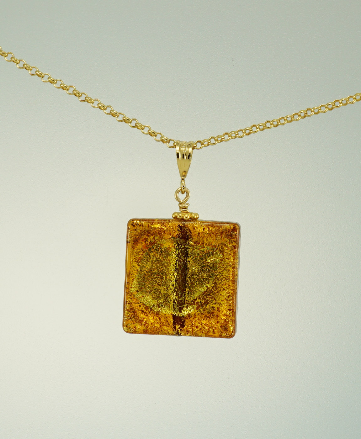Gold venetian glass square pendant lily jewels paddington gold venetian glass square pendant mozeypictures Image collections